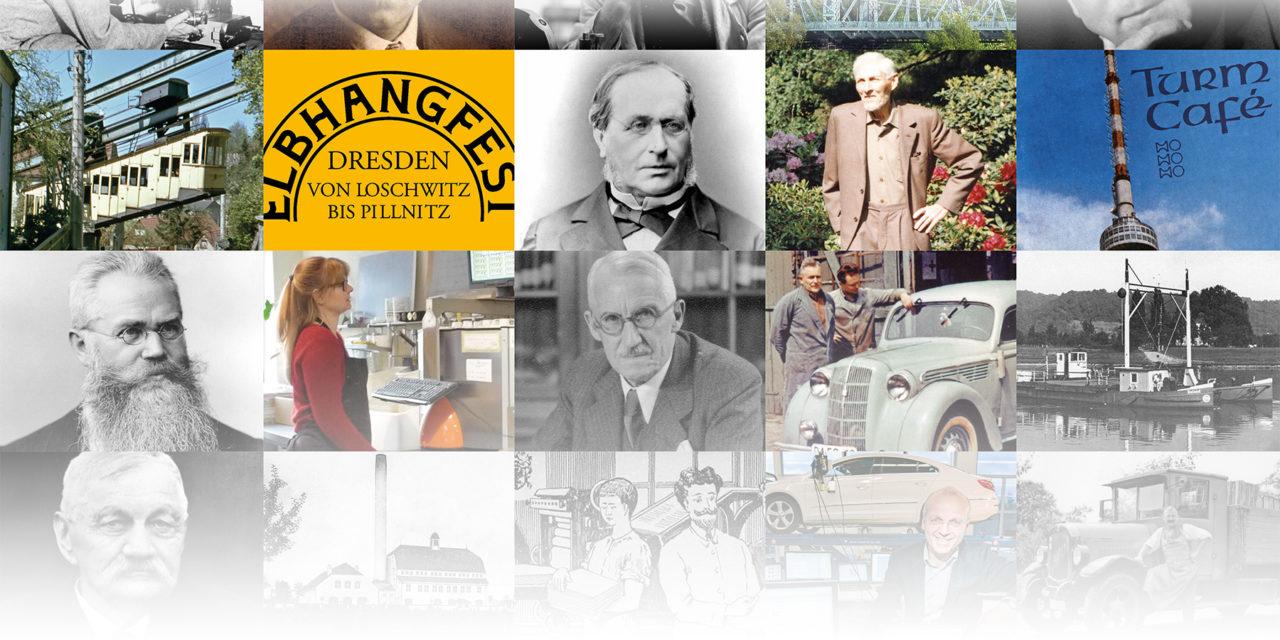 Porträts von Gründern und Erfindern am Elbhang