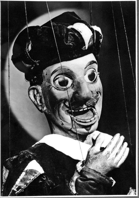 """Kasper aus """"Apel's Dresdner Marionettentheater"""", Kopf von Heinrich Rau, vor 1903 Foto: Archiv Bernstengel"""