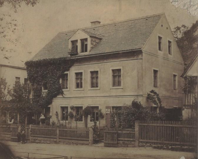 Grundstraße 3, um 1870. Foto: August Kotzsch (Sammlung M. Griebel)