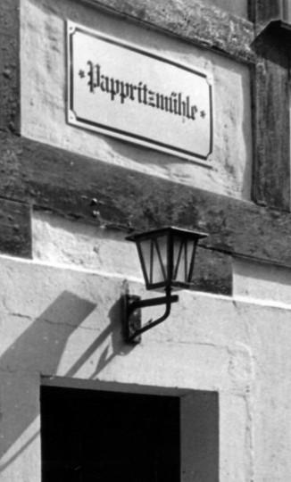 Das Schild über dem Eingang fehlt heute. Foto: Jürgen Frohse
