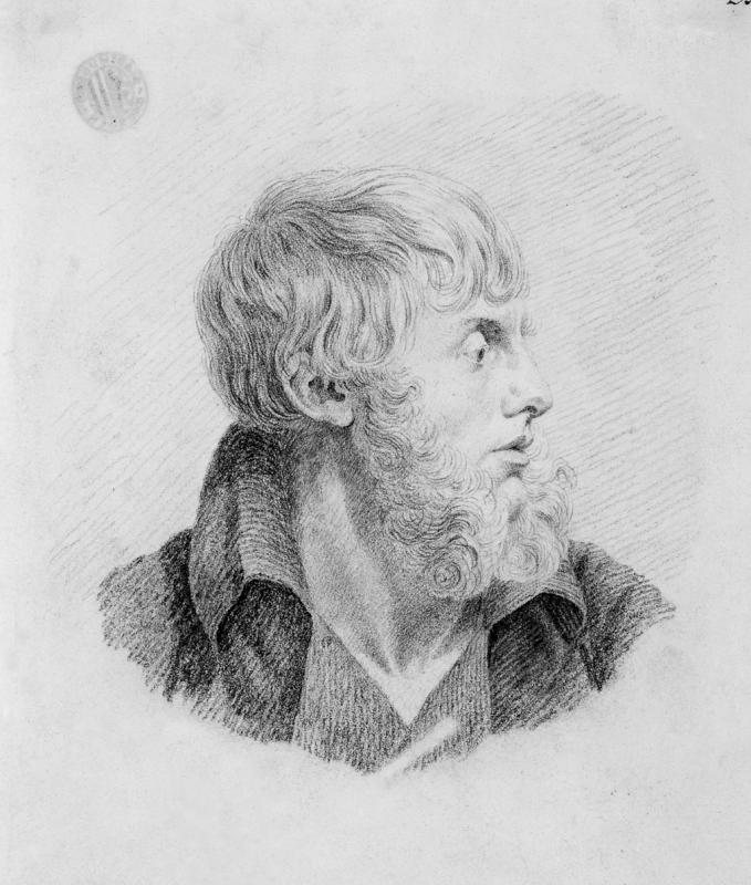 Caspar David Friedrich (1774 – 1840) Selbstbildnis, um 1805/09. Abbildung: Städtische Galerie Dresden, Foto: Franz Zadnicek