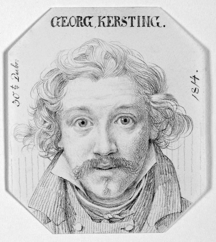 Georg Friedrich Kersting (1785 – 1847) Selbstbildnis, 1814. Abbildung: Städtische Galerie Dresden, Foto: Franz Zadnicek