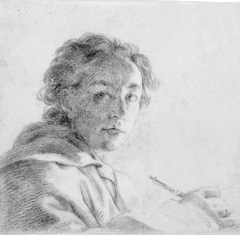 Anton Raphael Mengs (1728 – 1779), um 1772.  Zeichnung eines unbekannten Künstlers. Abbildung: Städtische Galerie Dresden, Foto: Franz Zadnicek