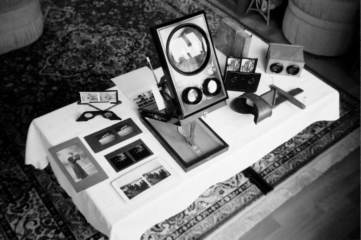 Stereoskope und Stereo-Photographien von Horst Milde.  Foto: Jürgen Frohse