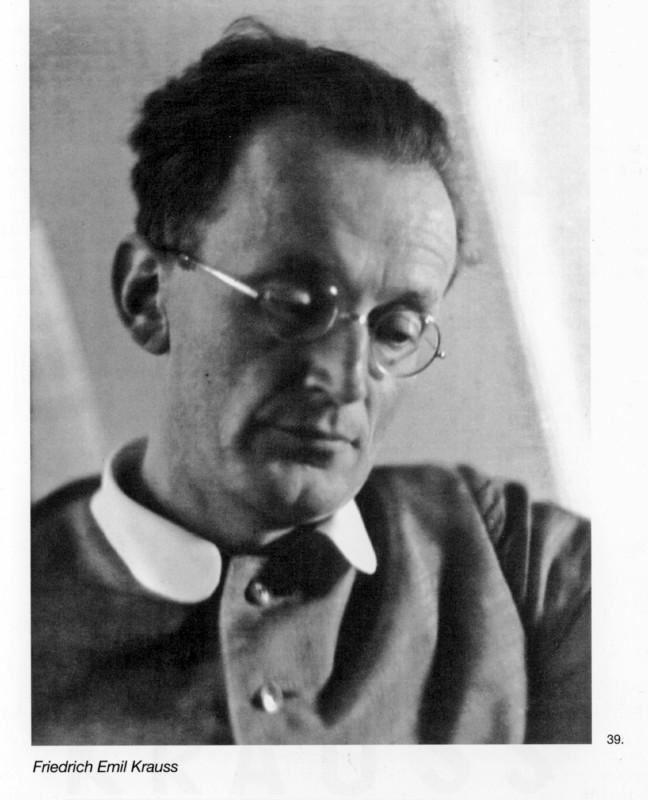 Dr. Friedrich Emil Krauss (1895 /Neuwelt bei Schwarzenberg – 1977/Stuttgart).