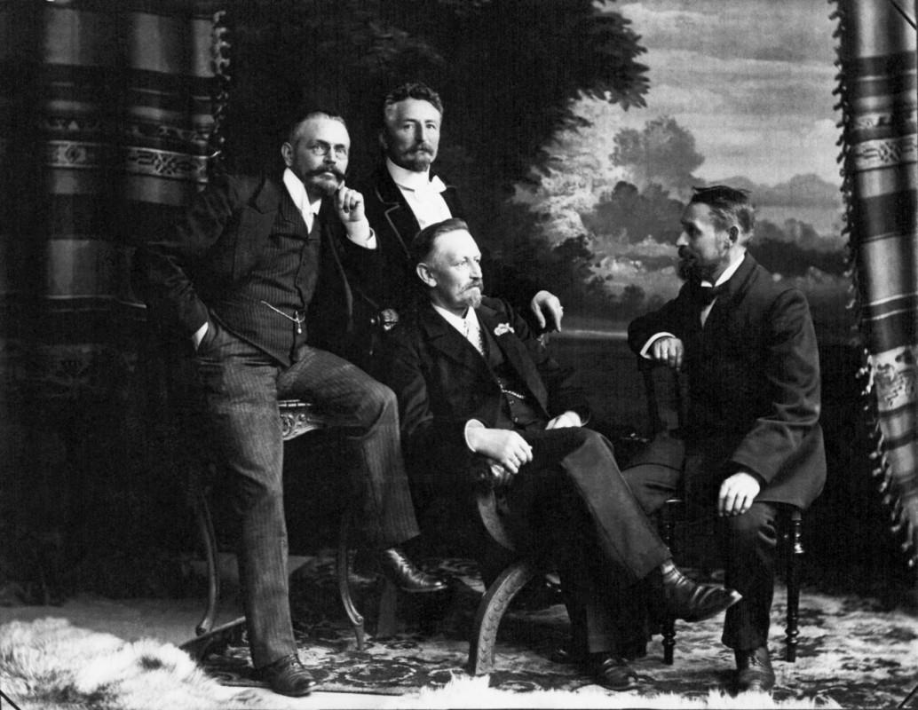 Die vier Aurig-Brüder: Hugo, James, Albin und Theodor (v. l.).   Foto: Atelier Aurig (Archiv Friedrich Aurig)