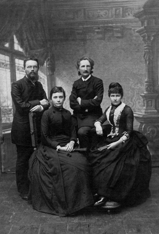 Die Brüder Hugo und James Aurig mit ihren Frauen Anna und Alma. Foto: Atelier Aurig (Archiv Friedrich Aurig)