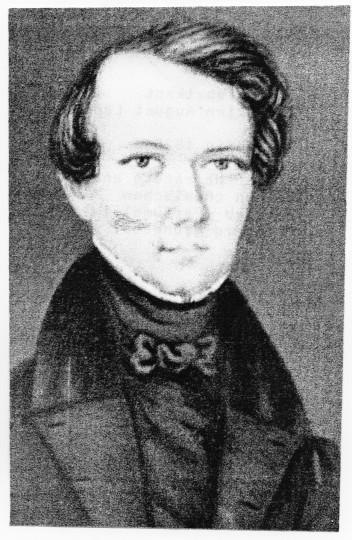 Tintenfabrikant Christian August Leonhardi, 21-jährig 1826, als er heiratete und seinen chemischen Betrieb (Parfüme) in Freiberg gründete. Foto: Archiv Hilmar Dressler