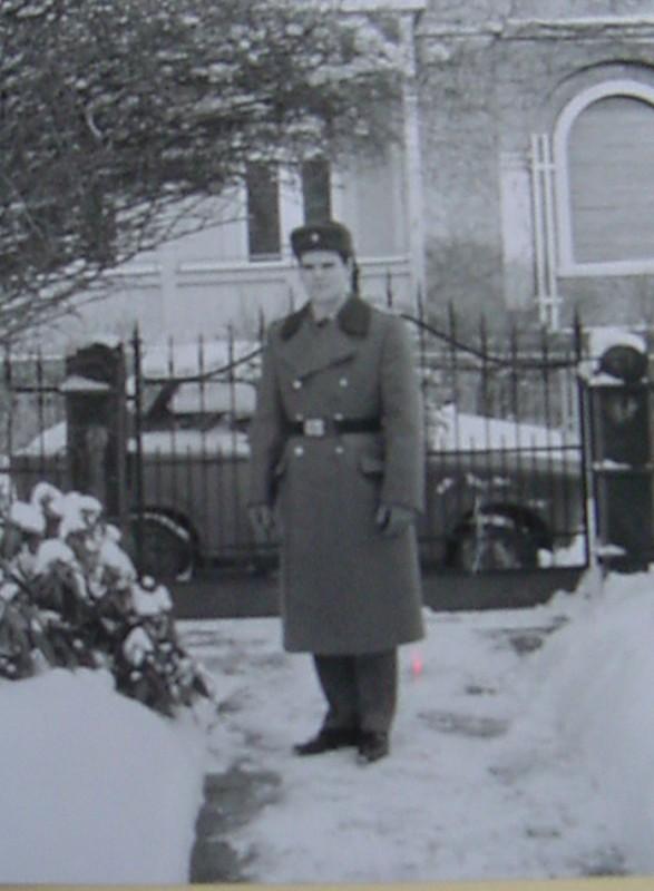 Uwe Tellkamp in NVA-Uniform im März 1988. Foto: Archiv Uwe Tellkamp