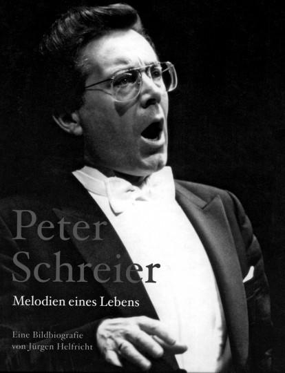 """Jürgen Helfricht: """"Peter Schreier. Melodien eines Lebens"""", Eine Bildbiografie, 183 Seiten, 24,95 EUR, (ISBN 978-3-86530-109-3)."""
