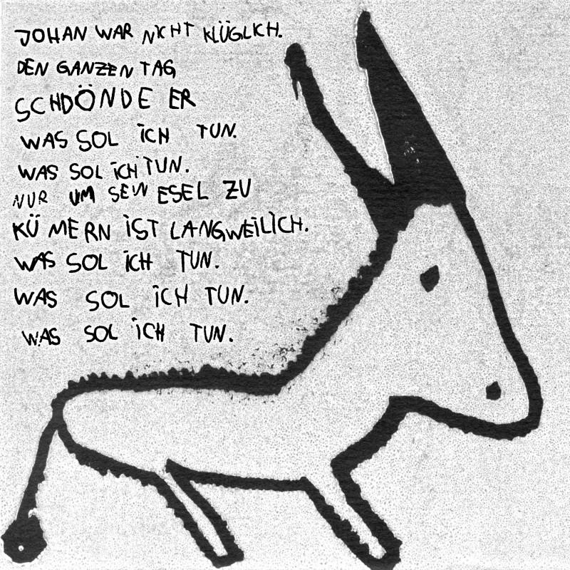 Zur Geschichte von Clara Lindner zeichnete Bela Rosa Puchert den Esel.
