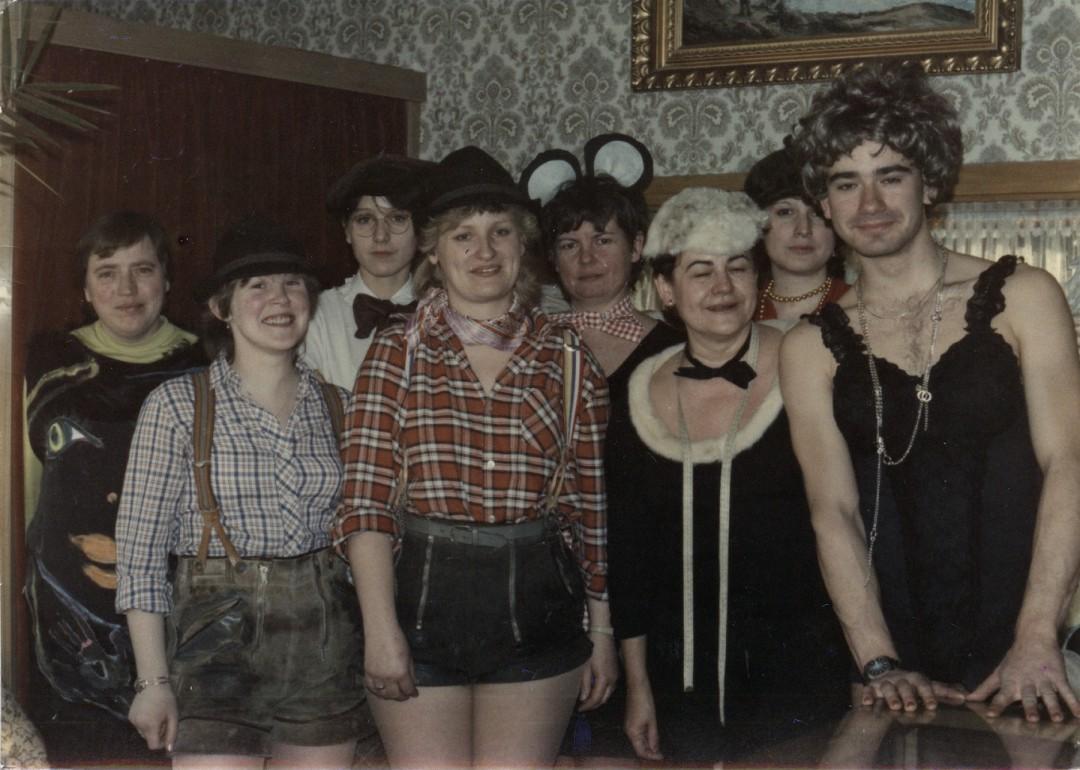 Die Belegschaft zum Fasching 1985.  Foto: Sammlung T. Vogel