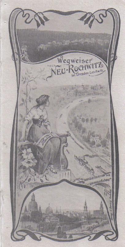 Wegweiser Neurochwitz um 1900.