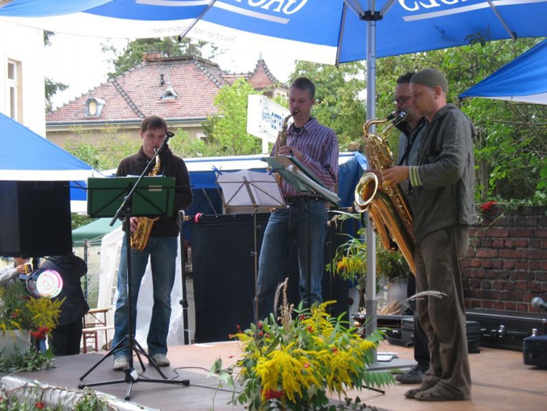 """Das Astros Saxophonquartett. Foto: Organisationsteam """"125 Jahre Kamerun"""""""