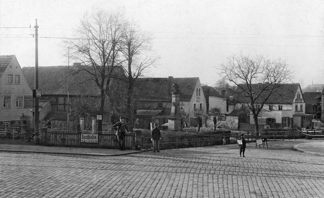 Blick vom Körnerplatz in die Friedrich-Wieck-Straße um 1910. Foto: James Aurig/Archiv Staddtmuseum Dresden