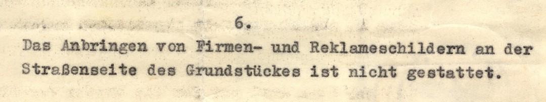 Auszug aus dem Mietvertrag von 1936. Foto: Sammlung Dr. Kunath