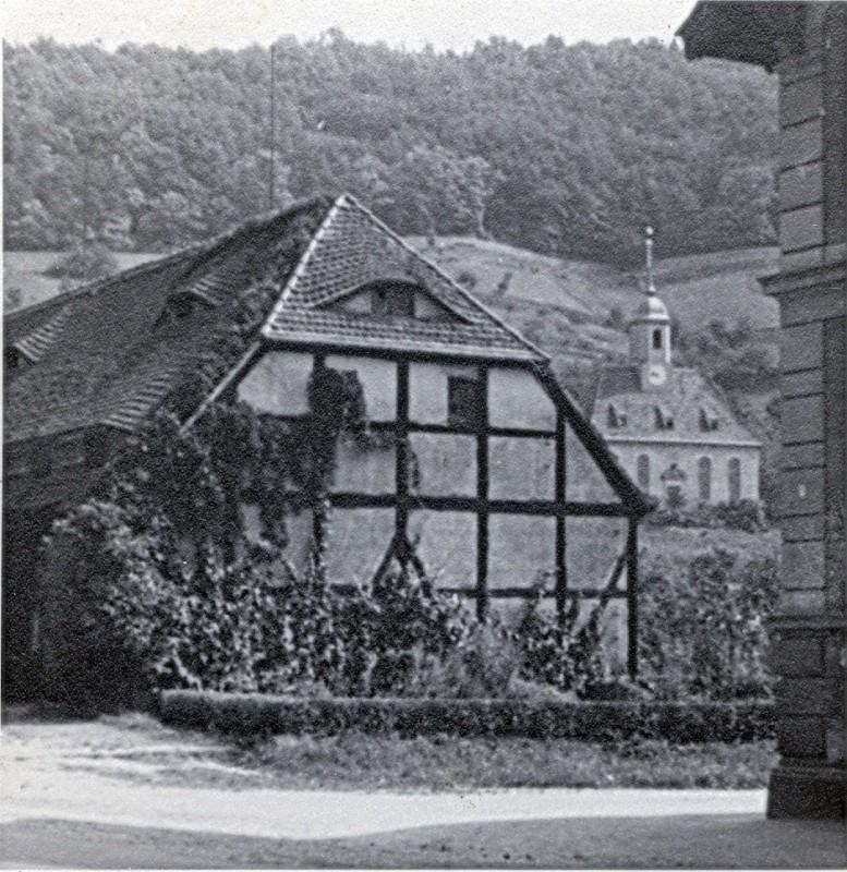 Das Wagenhaus vor dem Zweiten Weltkrieg. Foto: Sammlung Dr. Kunath