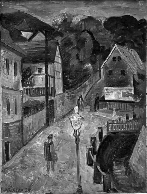 Hans Jüchser, Wachwitzgrund am Abend, 1938, Öl auf Leinwand, 67 x 50,5 cm, Privatbesitz. Foto: Der Fotoladen, Dachau