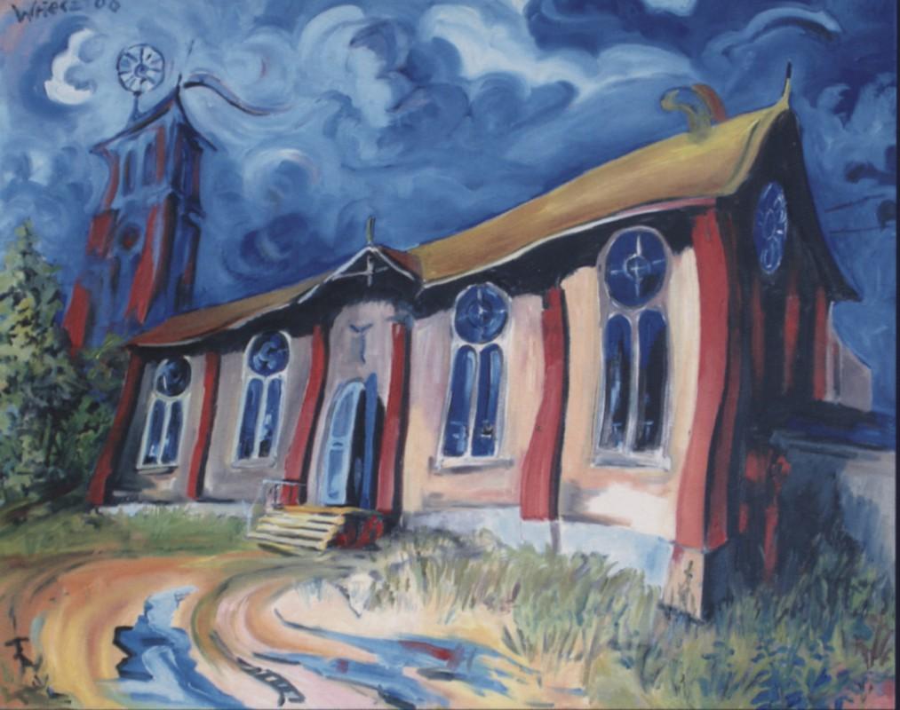 """Die """"Kunsthalle Roßwein"""" malte Rainer Wriecz 2006."""
