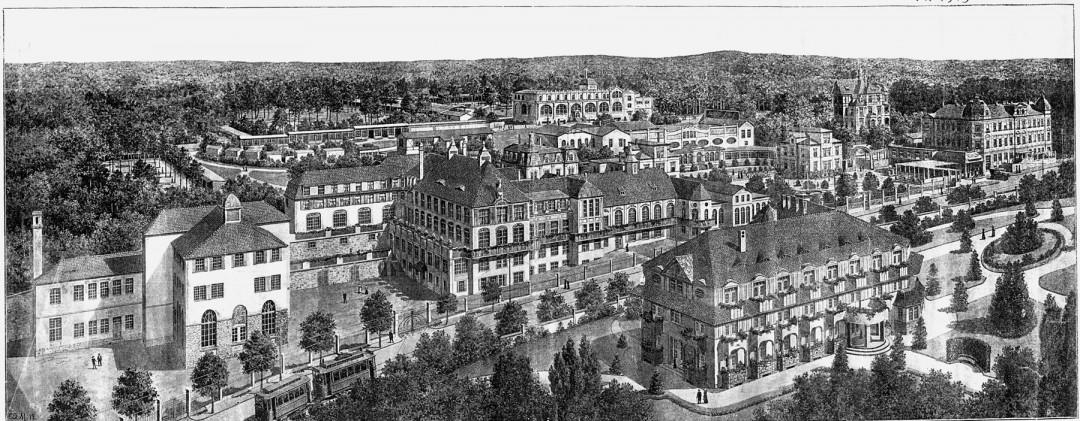Panorama des ehemaligen Lahmann-Sanatoriums. Abbildung: Sammlung M. Böttger