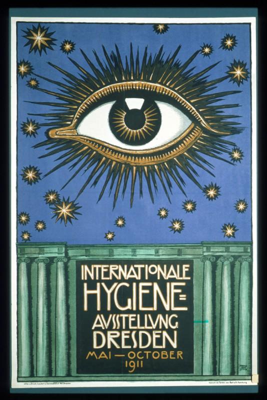 Plakat für die Hygiene-Ausstellung 1911 von Franz von Stuck.  Foto: wikipedia