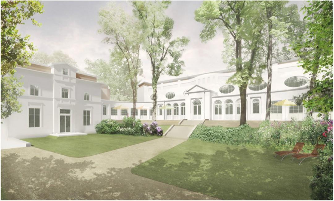 An das Erscheinungsbild der großen Ostseebäder lehnt sich der Entwurf von Heuer+Ille für das Damenbad an. Grafik:Heuer+Ille