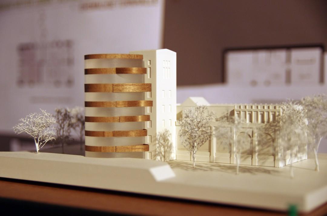 Ein zweiter Turm am Herrenbad wird entstehen, aber zum Entwurf von Röder+Dobrenz verändert sein.  Foto: Jürgen Frohse