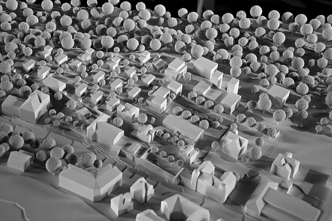 Modell des Neubau-Areals Wirner+Partner