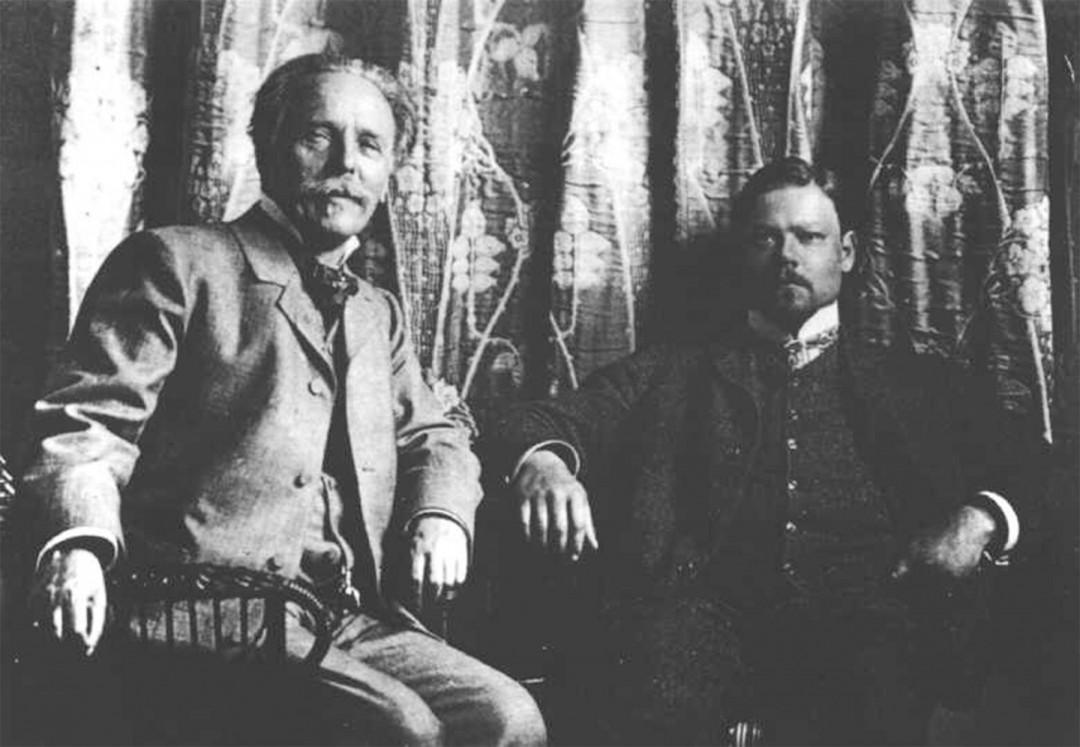 Sascha Schneider mit Karl May (1904)