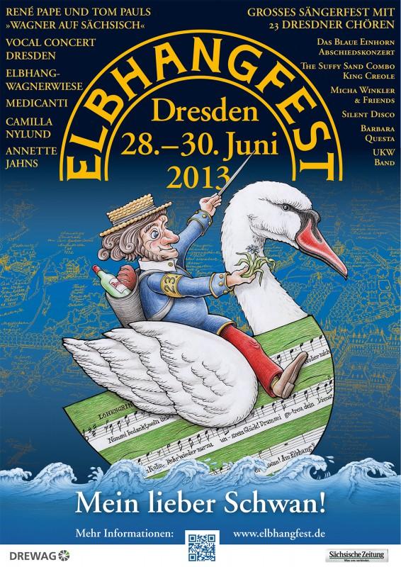 Elbhangfestplakat 2013 Gestaltung: Holger Friebel