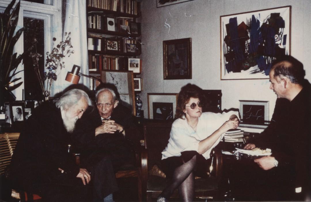 In diesem privaten Ambiente wurde 1987 des 100. Geburtstages von Will Grohmann gedacht.  Foto: Sammlung Falk Löffler