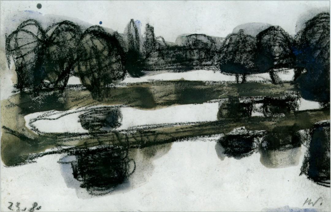 Helmut Wagner: Laubegaster Hochwasser-Impression 2002