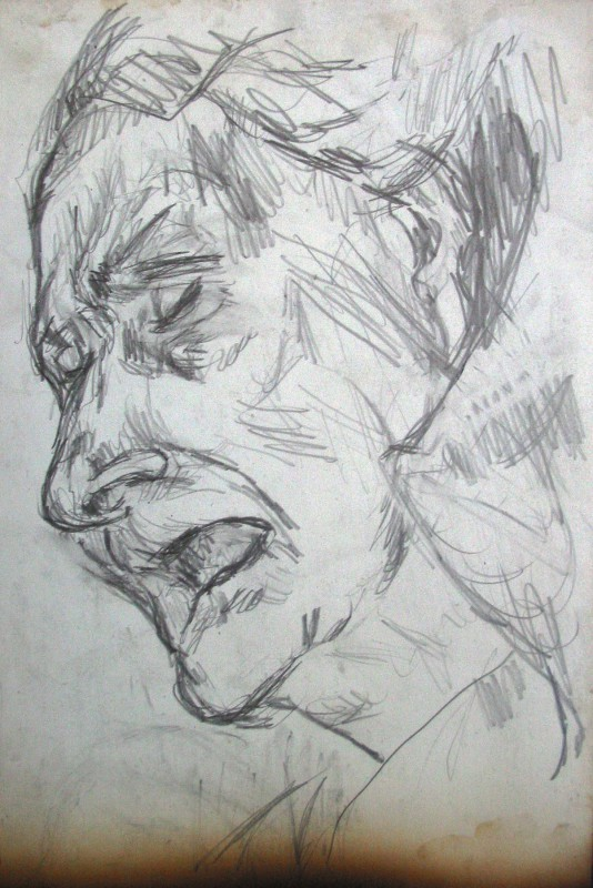 Frau Jungbluth Zeichnung: Konrad Maass