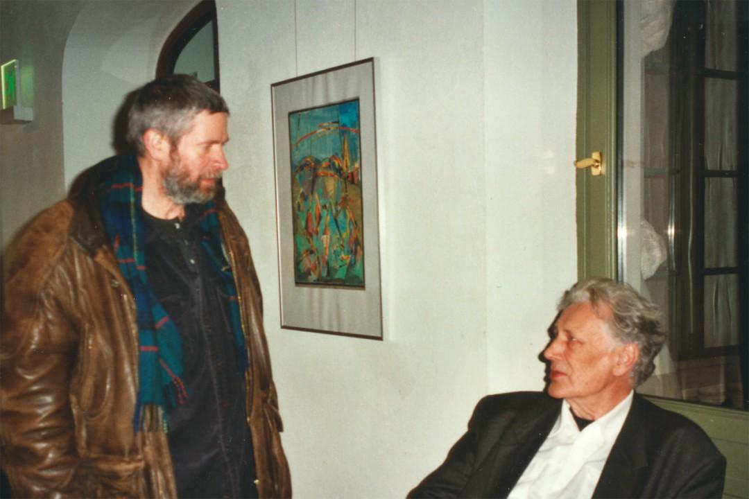 Diether Schmidt (rechts) mit Klaus Drechsler Foto: Gisela Bartholomay