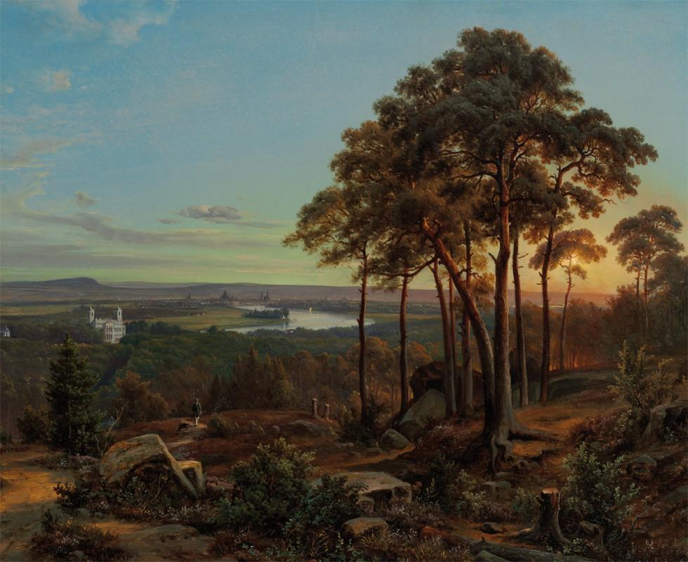 """Johann Anton Castell (Schüler von Clausen-Dahl), """"o. T."""" um 1855, zur Verfügung gestellt aus Privatbesitz"""