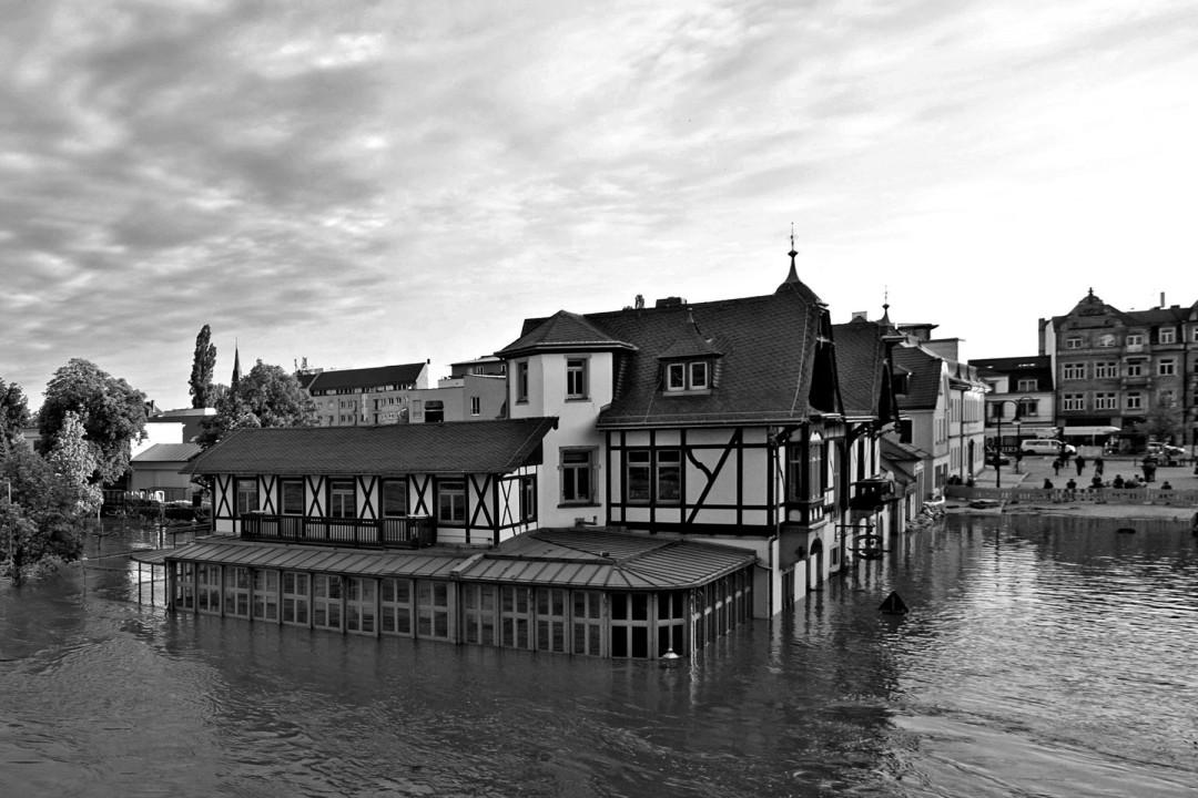 Blasewitz: Der Schillergarten hat die Hochwasserschlacht verloren. Foto: Gregor Fischer