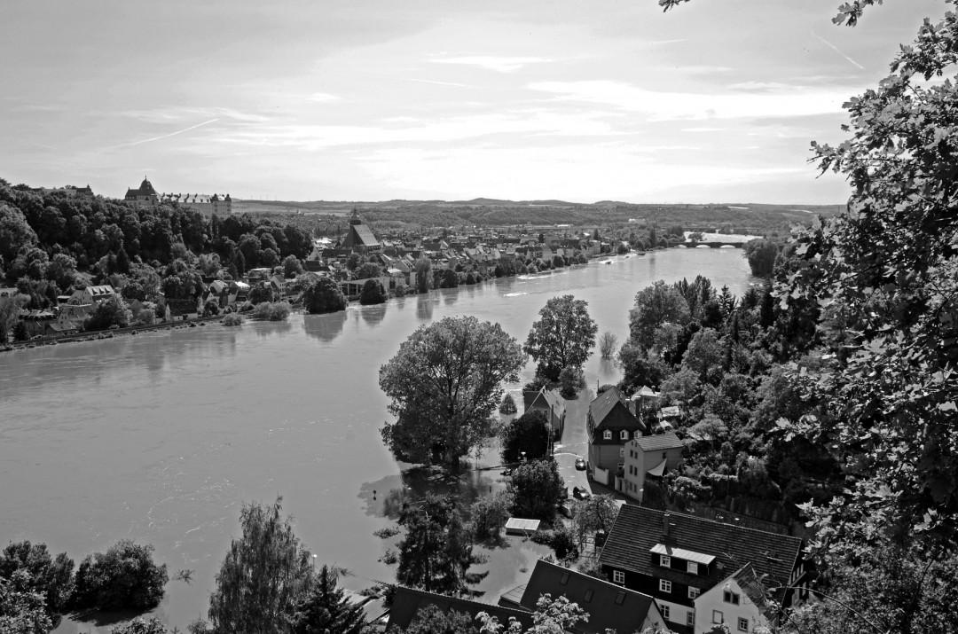 Elbehochwasser in Pirna. Foto: Jürgen Frohse