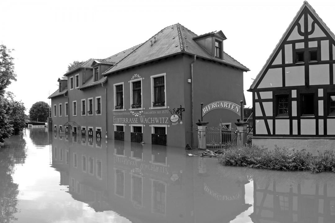Elbehochwasser in Wachwitz Foto: Jürgen Frohse