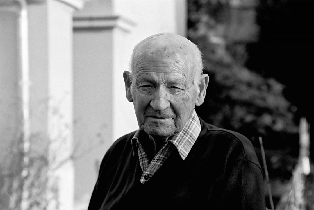 Zu Besuch im Haus seiner Kindheit kurz vor seinem 85. Geburtstag, Ludwig Munzinger (jun.). Foto: Jürgen Frohse