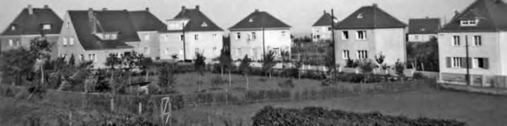 Die Häuser des Langenauer Weges 1937. Foto: Familie Schmidt