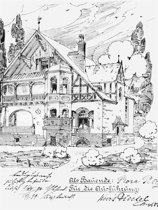 """Die Villa """"Sonnenschein"""" von 1899 Foto: Archiv"""