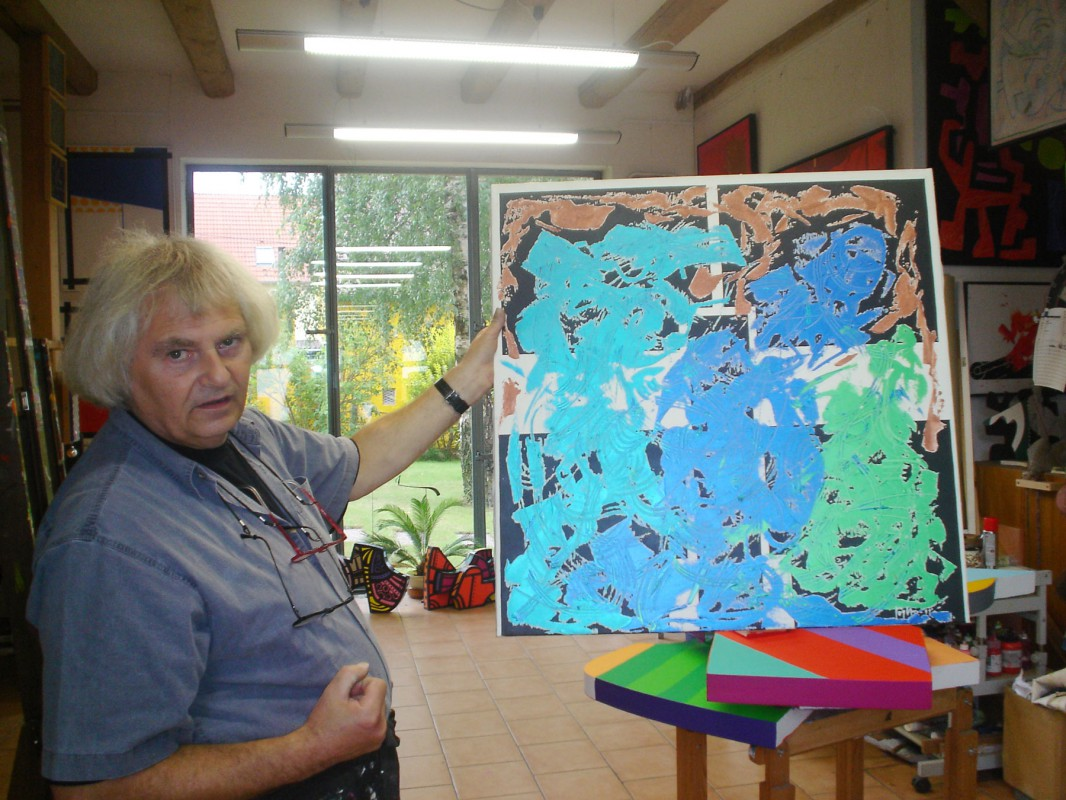 Ulf Goepfert in seinem Rockauer Atelier, 2007 (Foto: Dr. Jördis Lademann)