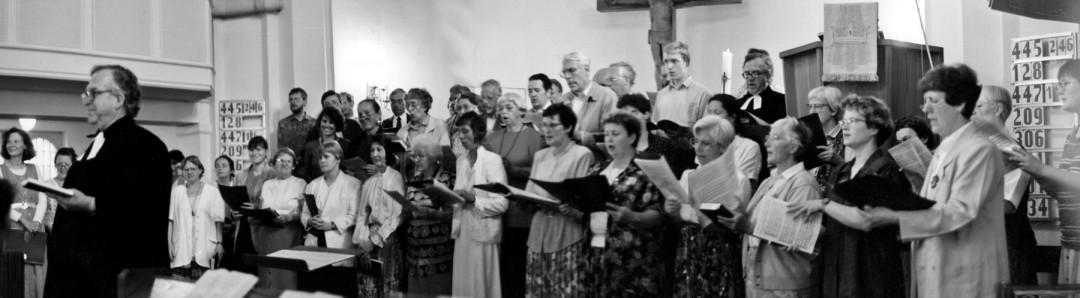 Chor der Gemeinde Weißer Hirsch mit ihrem Pfarrer. Foto: Große-Haupt
