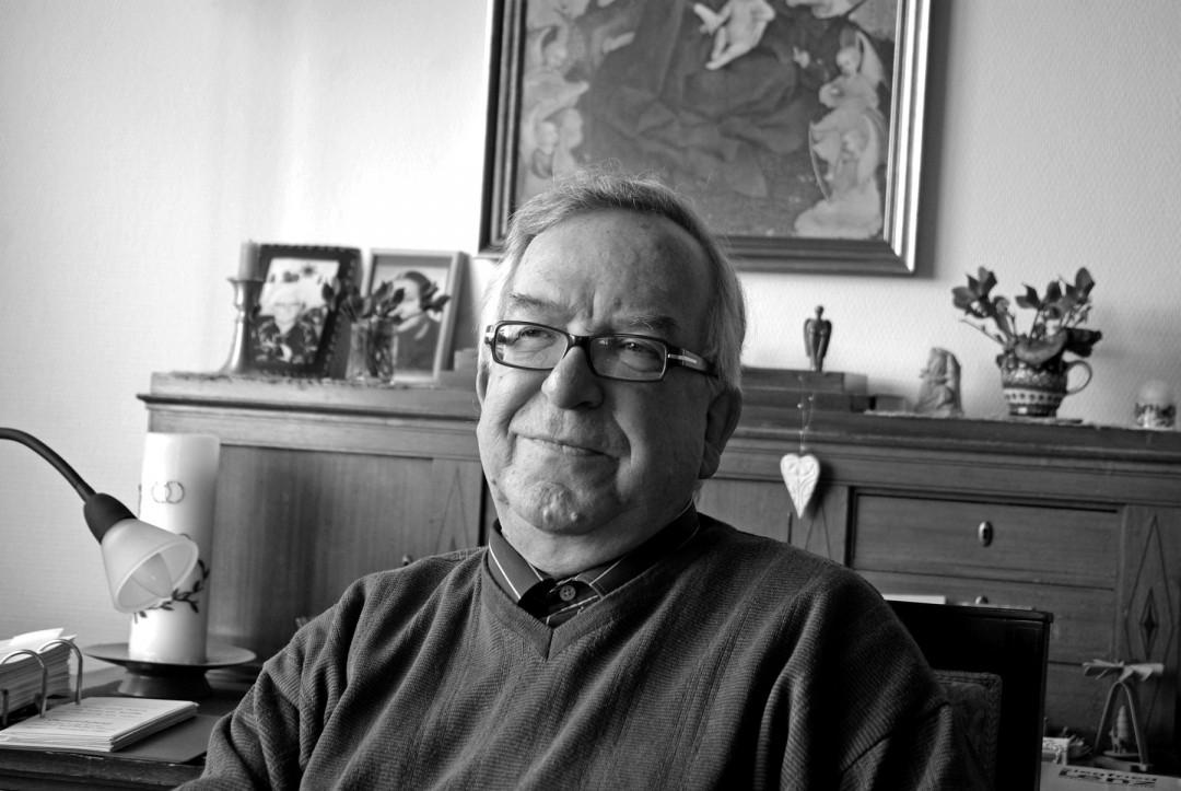 Christoph Flämig, Pfarrer im Ruhestand – aber nicht außer Dienst. Foto: Jürgen Frohse