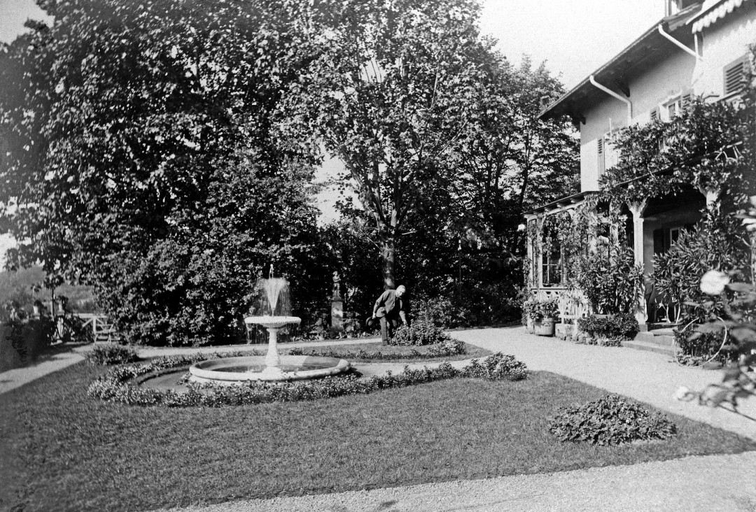 Garten des Knoopschen Anwesens, Elbseite. Foto: Sammlung Ute Häse