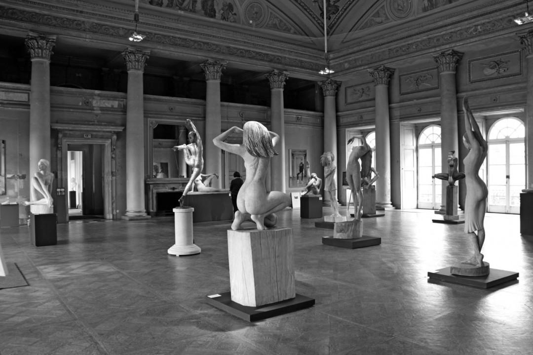 Blick in den Kuppelsaal des Pillnitzer Neuen Palais. Foto: Dieter Fischer