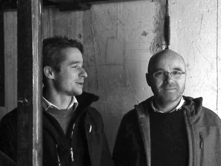 Architekt Martin Rauchfuß (links) und Bauingenieur Udo Gildemeister stellten sich der Bauaufgabe. Foto: E. Irmler