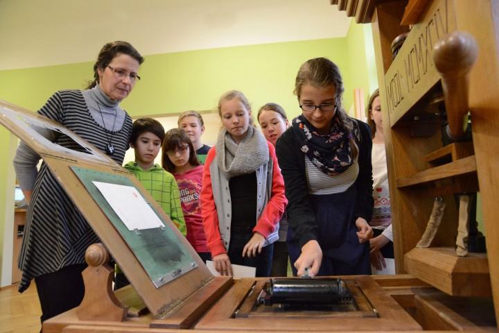 Druckerpresse im Haus der Bibelgesellschaft Foto: SHBG