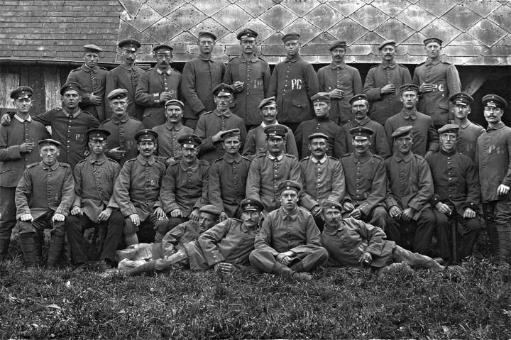 Im Gefangenenlager Annebault-Dozulé Caen September 1917. Foto: Archiv Griesbach