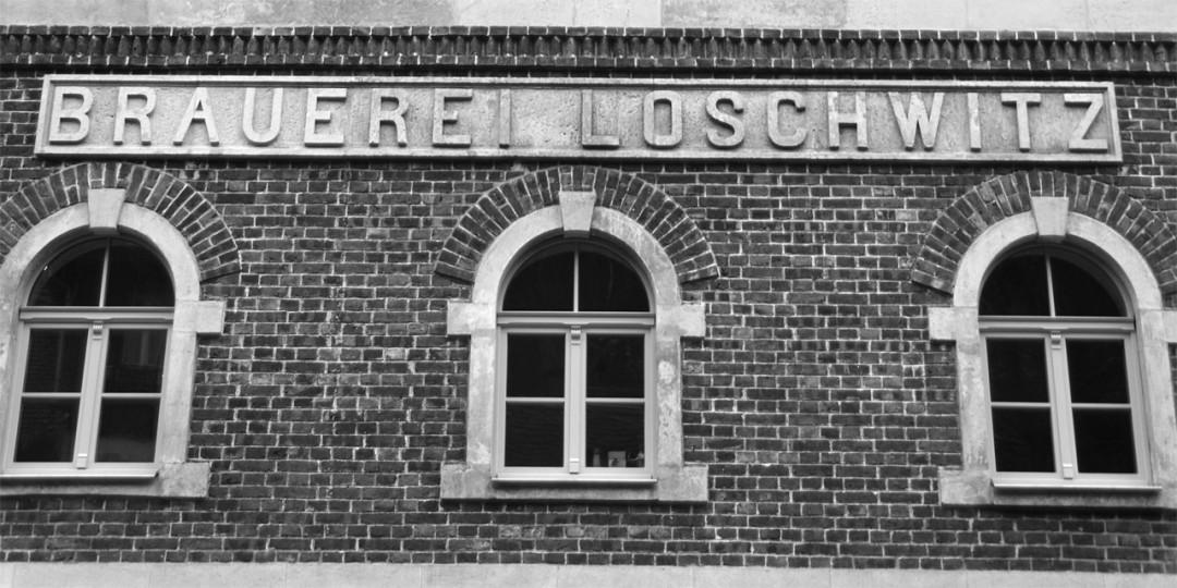 """Sanierter Schriftzug """"Brauerei Loschwitz"""" Foto: Jürgen Frohse"""